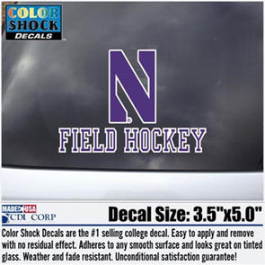 Northwestern Wildcats Field Hockey Decal