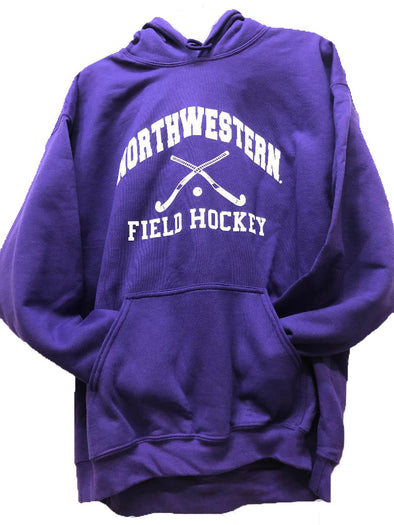 Northwestern Wildcats Field Hockey Hooded Sweatshirt-Purple