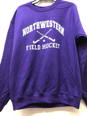Northwestern Wildcats Field Hockey Purple Crew Sweatshirt