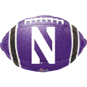 Northwestern Wildcats Mylar Football Balloon