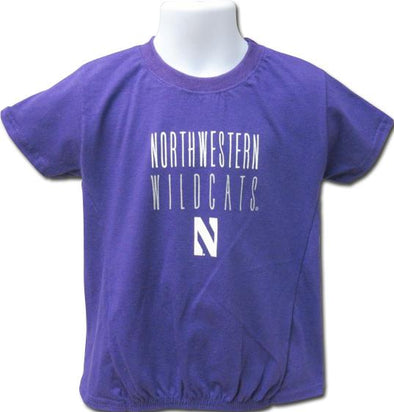Northwestern Wildcats Girls Lightweight Tee-Youth