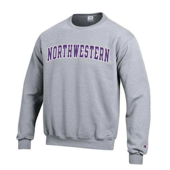 Northwestern Wildcats Champion® Gray Tackle Twill Crew