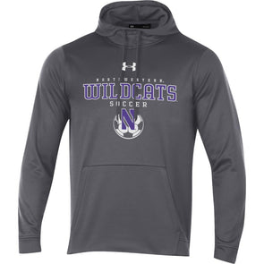 Northwestern Wildcats Under Armour Charcoal Soccer Hood-Adult