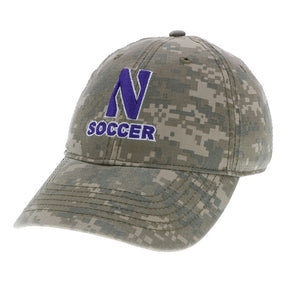 Northwestern Wildcats Soccer Camo Hat