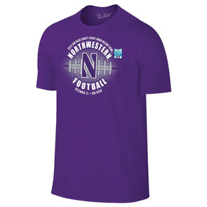 Northwestern Wildcats Holiday Bowl Short Sleeve T-Shirt