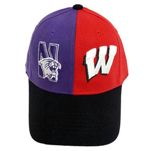 Northwestern Wildcats House Divided Northwestern/Wisconsin Hat