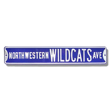 Northwestern Wildcats Ave Sign
