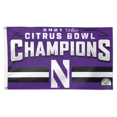 Northwestern Wildcats Citrus Bowl Champions 3 x 5 Flag
