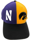 Northwestern Wildcats House Divided Hat:  Iowa