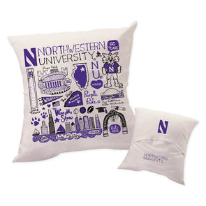 Northwestern Wildcats Throw Pillow
