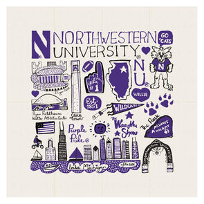 Northwestern Wildcats Kitchen Towel