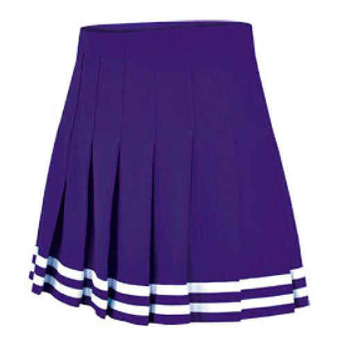 Northwestern Wildcats Youth Girls Cheer Double Knit Knife Pleat Skirt