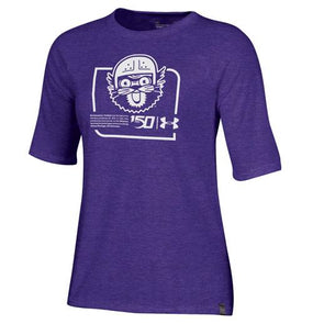 Northwestern Wildcats Ladies College Football 150 Anniversary Tee