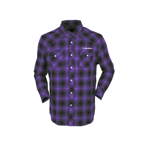 Northwestern Wildcats Her Plaid Shirt