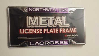 Northwestern Wildcats Lacrosse License Plate Frame