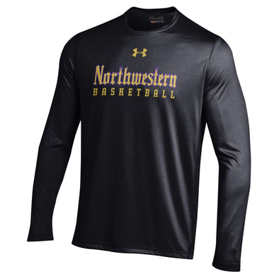 Northwestern Wildcats Under Armour® Adult Gothic Basketball T-Shirt - Long Sleeve
