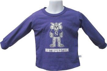 Northwestern Wildcats Willie Infant Long Sleeve Tee