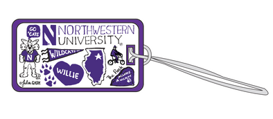 Northwestern Wildcats Julia Nash Luggage Tag