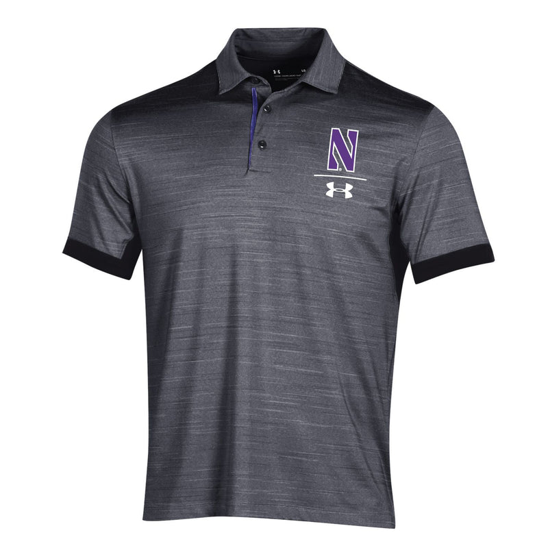 Northwestern Wildcats Under Armour Playoff Vented Polo - Black