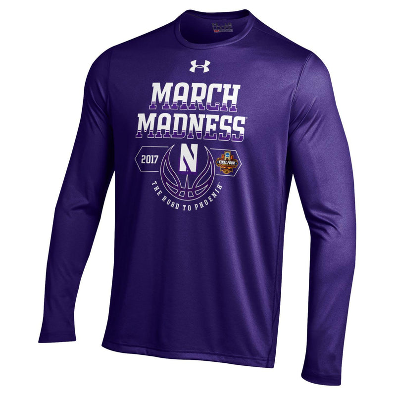 Northwestern Wildcats Under Armour® March Madness Long Sleeve Basketball T-Shirt