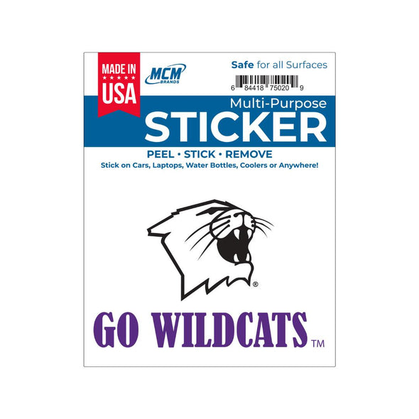 Northwestern Wildcats Multi-Purpose Sticker-Go Wildcats