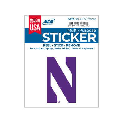 Northwestern Wildcats Multi-Purpose Sticker- N