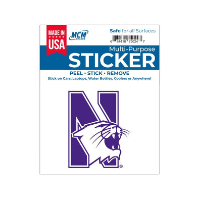 Northwestern Wildcats Multi-Purpose Sticker-N/Cat