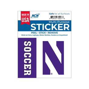 Northwestern Wildcats Multi-Purpose Sticker-Soccer