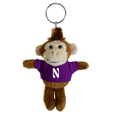 Northwestern Wildcats Monkey Keychain