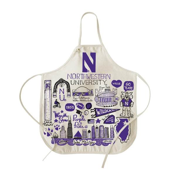 Northwestern Wildcats Natural Canvas Apron