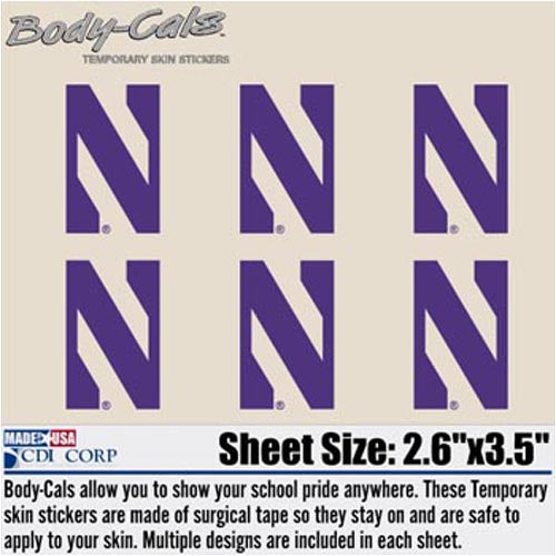 Northwestern Wildcats N Body-Cals