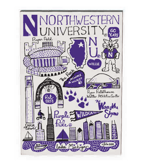 Northwestern Wildcats 10 Pack Note Cards