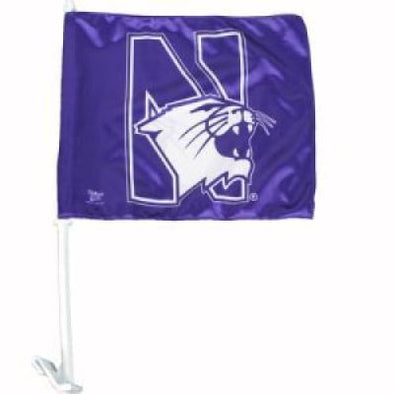 Northwestern Wildcats Purple Car Flag