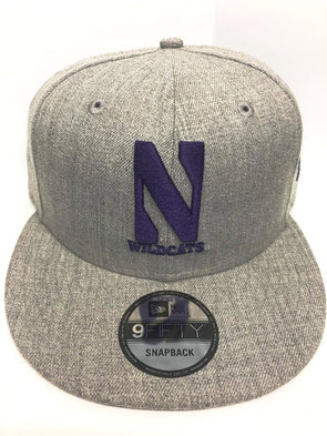 Northwestern University Wildcats New Era Grey Snapback