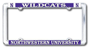 Northwestern Wildcats N Frame License Plate
