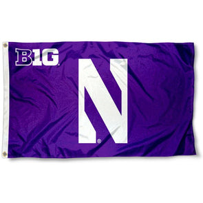 Northwestern Wildcats Big Ten N Flag 3 x 5