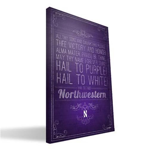 Northwestern Wildcats Hail To Thee Canvas Print