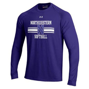 Northwestern Wildcats Under Armour® Purple N Softball Long Sleeve T-Shirt