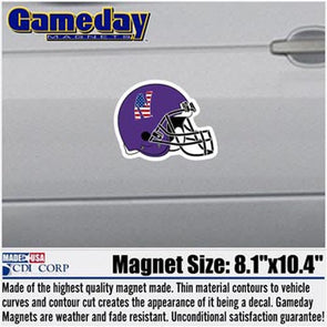 Northwestern Wildcats Patriot Football Magnet