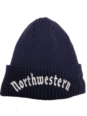 Northwestern Wildcats Gothic Fleece Lined Knit Hat-Purple