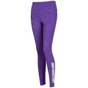Northwestern Wildcats Ladies Purple Leggings