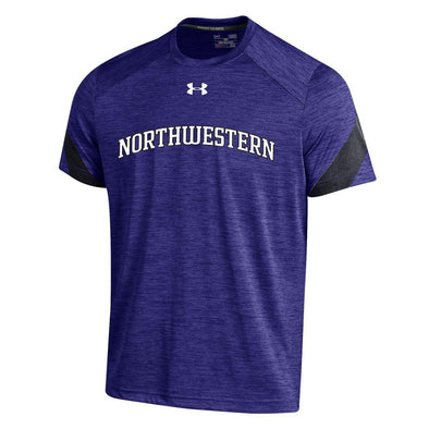 Northwestern Wildcats Under Armour® Sideline Adult Microstripe Performance T-Shirt - Purple
