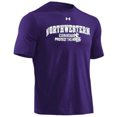 Northwestern Wildcats Under Armour® Adult Purple Protect This House Charged Cotton T-Shirt