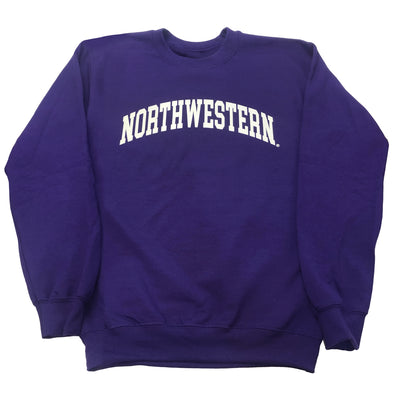 Northwestern Wildcats Purple Arch Northwestern Crew Sweatshirt
