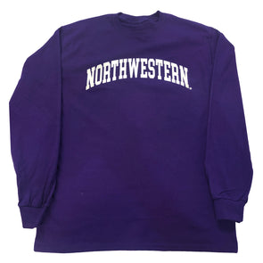 Northwestern Wildcats Purple Arch Long Sleeve T-Shirt