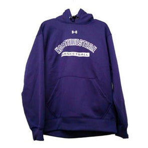 Northwestern Wildcats Under Armour® Basketball Purple Fleece Hoodie