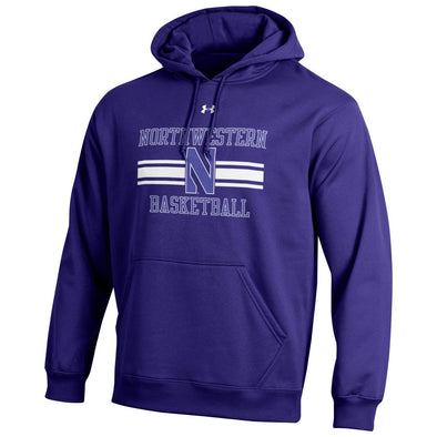 Northwestern Wildcats Under Armour N Basketball Hooded Sweatshirt