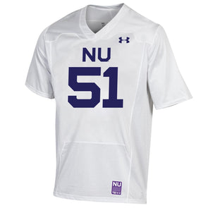 Northwestern Wildcats Under Armour College Football 150th Anniversary Retro White Jersey