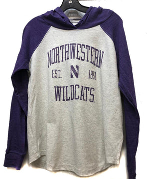 Northwestern Wildcats Ladies Ashton Raglan Hoodie