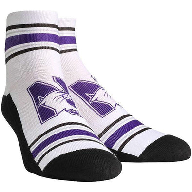 Northwestern Wildcats Classic Stripes Quarter Socks - Adult